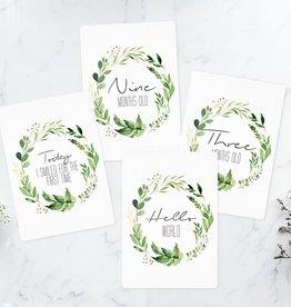Joseph Prints Joseph Prints Leafy Wreath Baby Milestone Cards