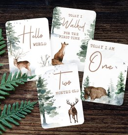 Joseph Prints Joseph Prints Winter Deer Baby Milestone Cards