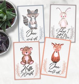 Joseph Prints Joseph Prints Woodland Animals Milestone Cards