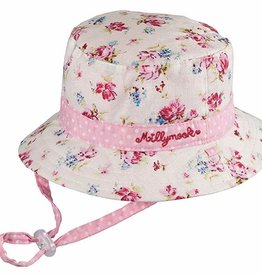 Millymook Millymook Baby Girls Bucket - Vintage Floral Pink