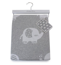 Bubba Blue Bubba Blue Petit Elephant Cotton Knit Blanket