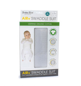 Bubba Blue Bubba Blue Air + Swaddle Suits Grey 0-3 Months