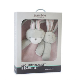 Bubba Blue Bubba Blue Bunny Hop Security Blanket & Rattle Set