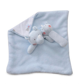 Bubba Blue Bubba Blue Rhino Run Security Blanket & Rattle Set