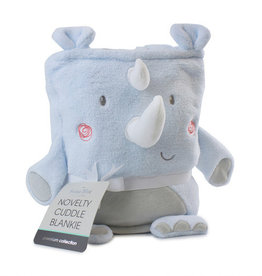 Bubba Blue Bubba Blue Rhino Run Novelty Cuddle Blankie