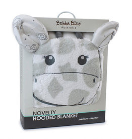 Bubba Blue Bubba Blue Grey Playtime Hooded Novelty Blanket
