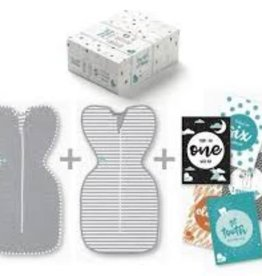 Love To Dream Love To Dream Swaddle UP Gift Pack Newborn - 2 Pack Grey & GreyWhite Stripe