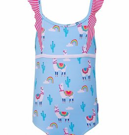 Sun Emporium Sun Emporium Girls One-Piece Swimsuit Bahama Llama  Print