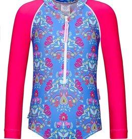 Sun Emporium Sun Emporium Girls Swimsuit Long Sleeve Frida Print