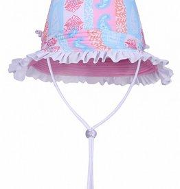 Sun Emporium Sun Emporium Baby Girls Reversible Brim Hat with Frills Arabella Print