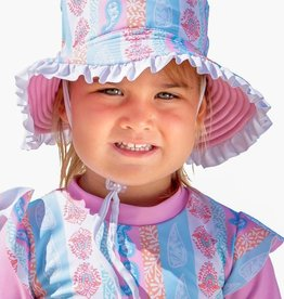 Sun Emporium Sun Emporium Girls Reversible Brim Hat with Frills Arabella Print