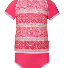 Sun Emporium Sun Emporium Girls Rash Guard and Bikini Set Indian Summer Print