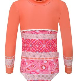 Sun Emporium Sun Emporium Girls Swimsuit Long Sleeve Indian Summer Print