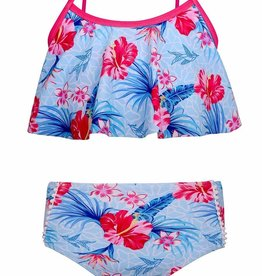 Sun Emporium Sun Emporium Girls Swing Top Bikini Set Halcyon Days Print