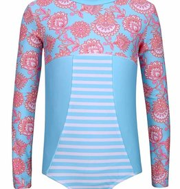Sun Emporium Sun Emporium Girls Swimsuit Long Sleeve Samsara Print