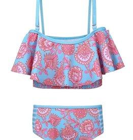 Sun Emporium Sun Emporium Baby Girls Bikini with High Waist Pant Samsara Print