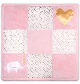 The Peanut Shell Peanut Shell Traditional Girl Playmat - Pink/Gold Elephant