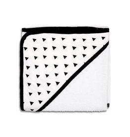 The Peanut Shell Peanut Shell Hooded Towel Black Triangles