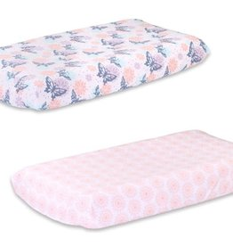 The Peanut Shell Peanut Shell Wild Flower 2pk Bassinet Sheet