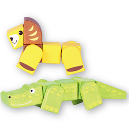 Discoveroo Discoveroo Snap Blocks Animals Set