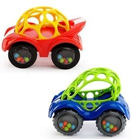 Oball Oball Rattle & Roll Cars Blue and Red