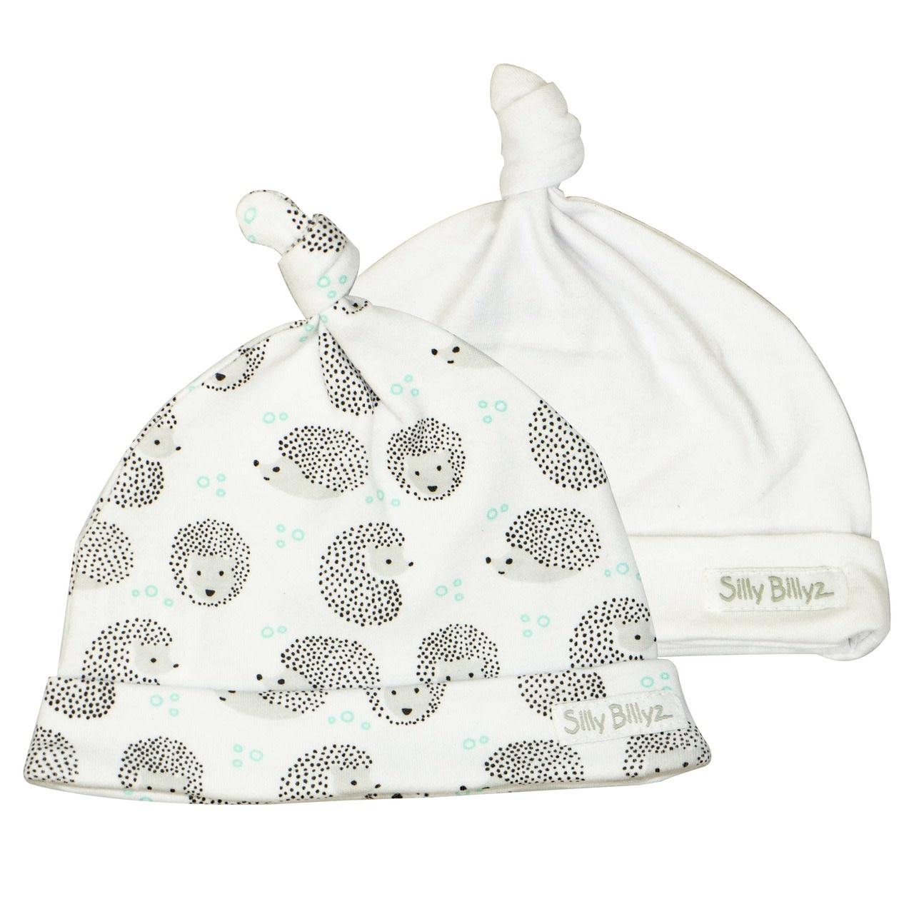 Silly Billyz Silly Billyz Jersey Baby Hats 2pk