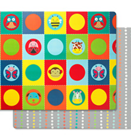 Skip Hop Skip Hop Doubleplay Reversible Playmat Zoo/Multi Dots