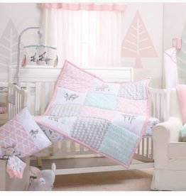 Little Haven Little Haven Oh Deer 4­Piece Cot Set (Quilt, FS, Pillow Case and Throw Pillow )