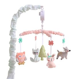 Little Haven Little Haven Woodland Pink Musical Mobile