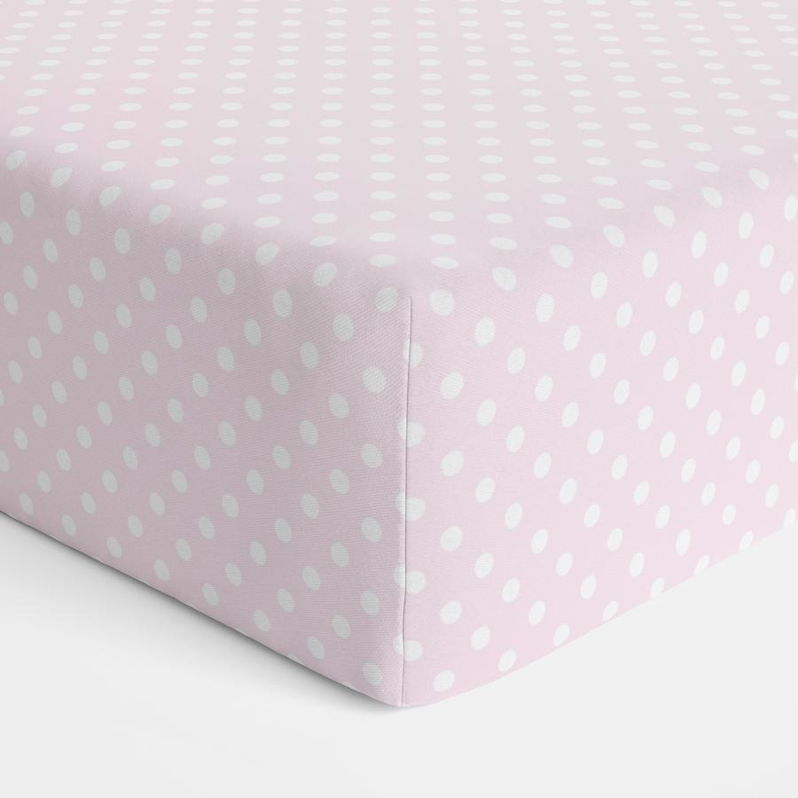 Bubba Blue Bubba Blue Polka Dot Jersey Fitted Sheet Cot