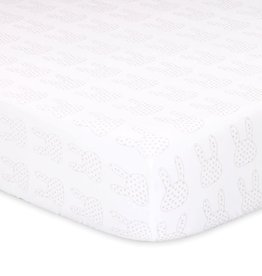 The Peanut Shell Peanut Shell Snowball Black and White Fitted Sheet