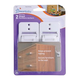 Dreambaby Dreambaby Hinged Furniture Anchors 2Pk