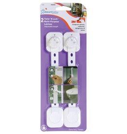 Dreambaby Dreambaby Twist 'N Lock Multi-Purpose Latch 2 Pack