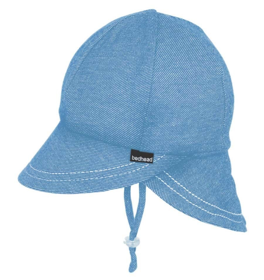 Bedhead Bedhead Legionnaire Hat with Strap - Chambray - 47cm / 6-12 months /S