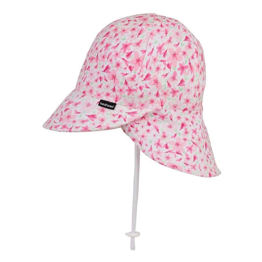 Bedhead Bedhead Girls Legionnaire Hat 'Cherry Blossom' Print - 37cm / 0-3 months / XXS