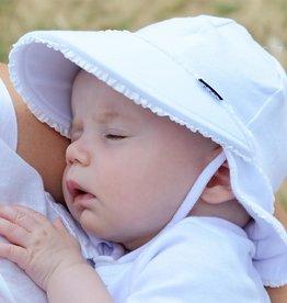 Bedhead Bedhead Girls Legionnaire Hat Ruffle Trim - White - 37cm / 0-3 months / XXS