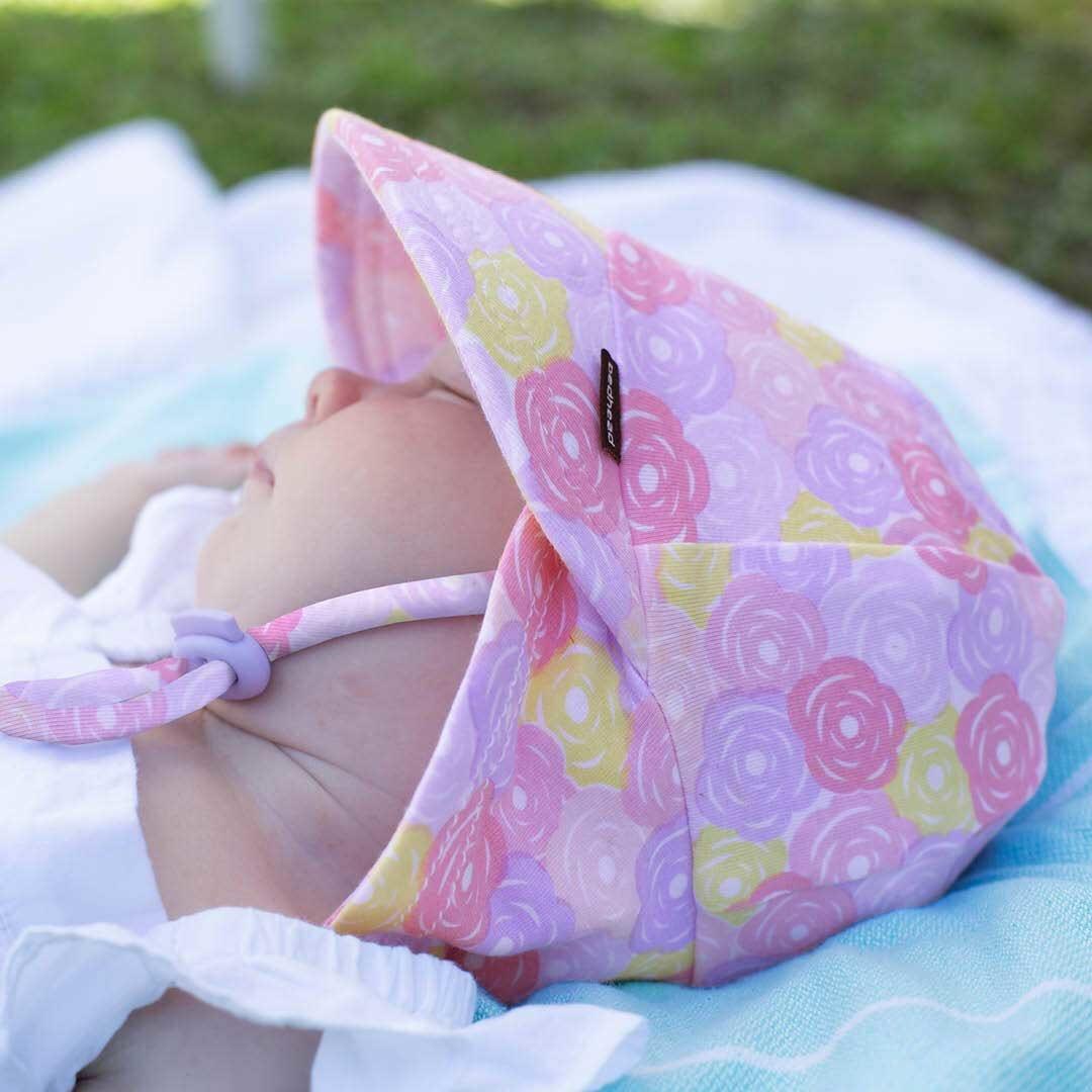 Bedhead Bedhead Girls Legionnaire Hat 'Rose' Print -