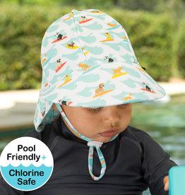 Bedhead Bedhead Boys Beach Legionnaire Hat UPF50+ 'Surf Dog' Print -