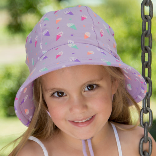 Bedhead Bedhead Girls Bucket Hat 'Ice Cream' Print - 52cm / 2-3 Years / L