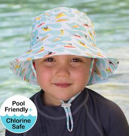 Bedhead Bedhead Boys Beach Bucket Hat UPF50+ 'Surf Dog' Print - 52cm / 2-3 years / L