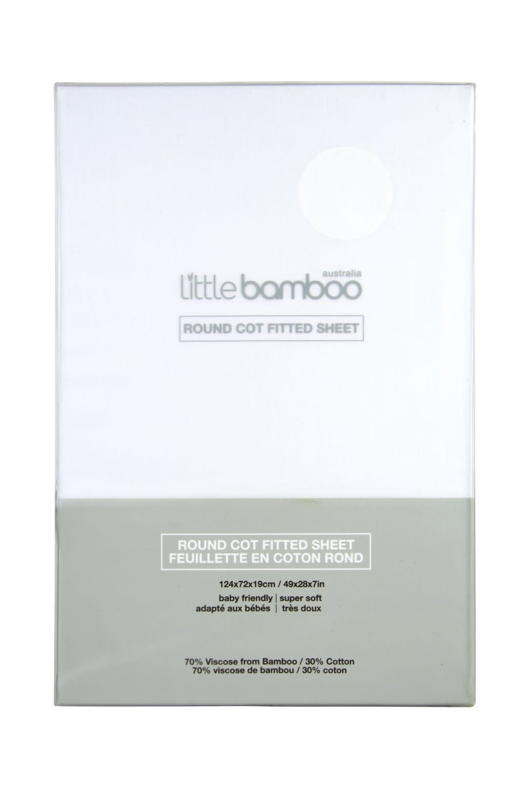 Little Bamboo Little Bamboo Round cot Fitted Sheets - 124x72x19cm