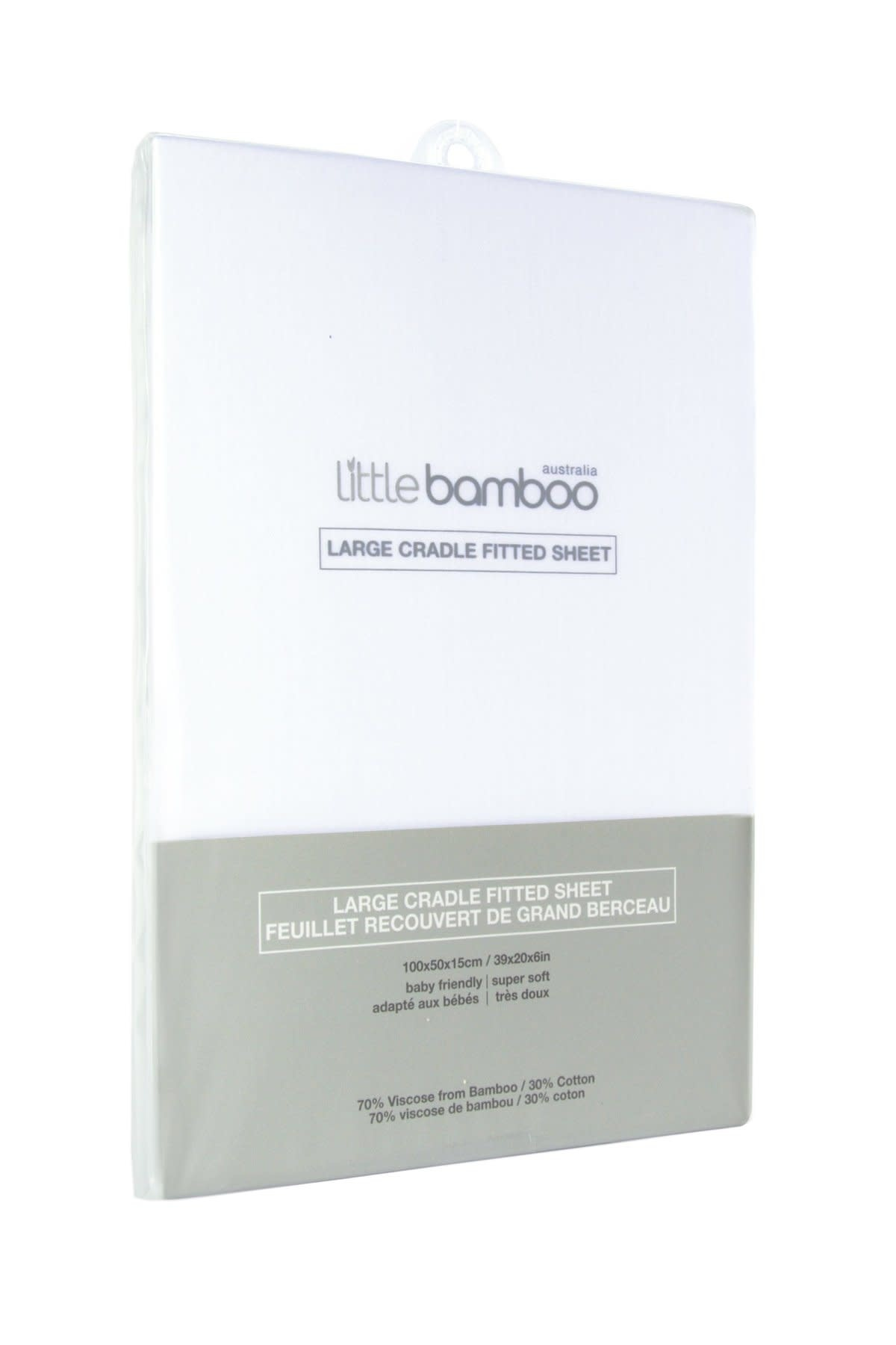 Little Bamboo Little Bamboo Large Cradle Fitted Sheets - 100x50x15cm