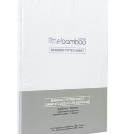 Little Bamboo Little Bamboo Bassinet Fitted Sheets - 80x40x10cm