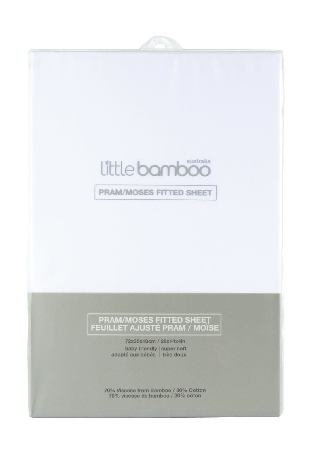 Little Bamboo Little Bamboo Pram Moses Fitted Sheets - 72x35x10cm