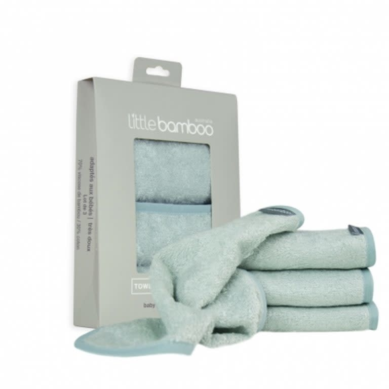 Little Bamboo Little Bamboo Towelling Wash Cloths 3 Pack