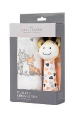 Little Linen Little Linen Muslin Wrap & Crinkle Toy