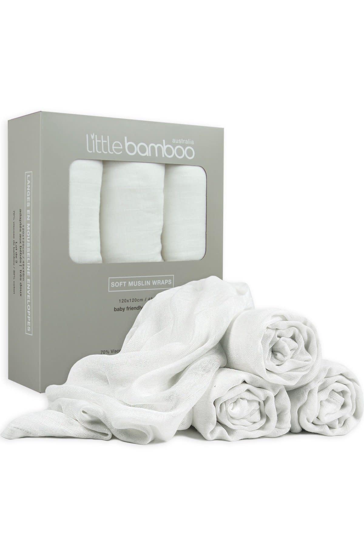 Little Bamboo Little Bamboo Muslin Wraps - 3 Pack