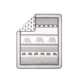 Little Haven Little Haven Grey Elephant Cot Quilt