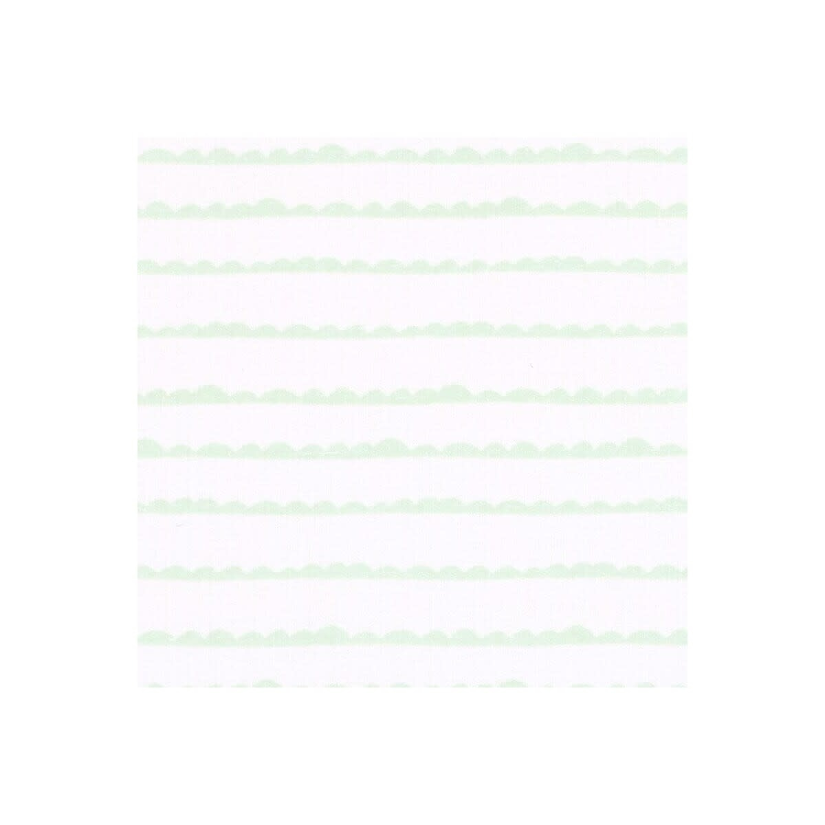 Little Haven Little Haven Cot Fitted Sheet-Green Wave