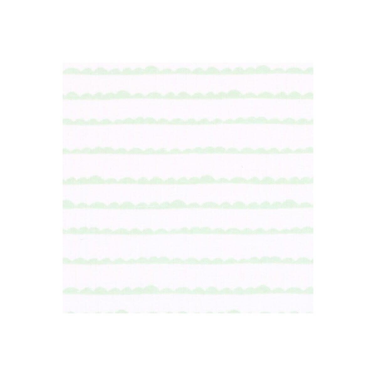 Little Haven Little Haven 2Pk Bassinette Fitted sheet Grey Elephant/ Green Wave